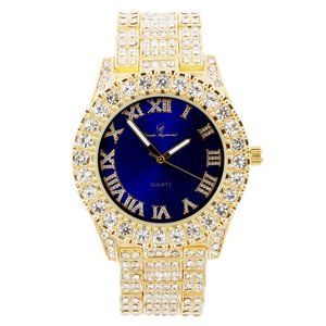 Bling-ed Out Round Watches - ST10327Roman
